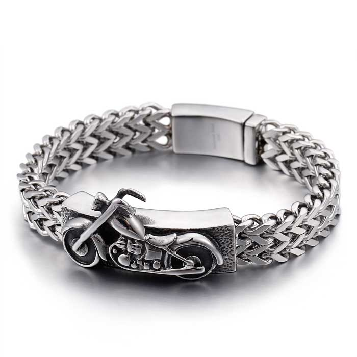 Bike Id Steel Bracelet