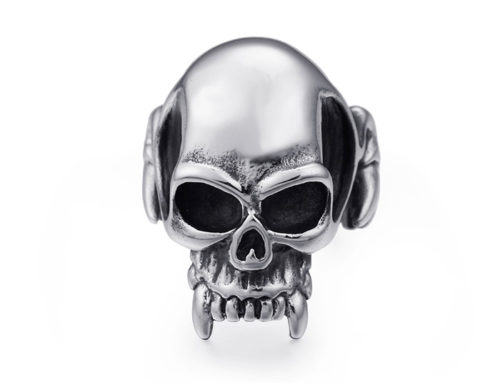 Stainless Steel Skull Canine Fashion Ring Jewelry Manufacturer