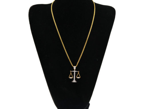 2019 valentine gift factory price mens brass iced out Libra symbolic pendant with 3mm 24inch miami cuban link chain high quality hip hop jewelry manufacturer
