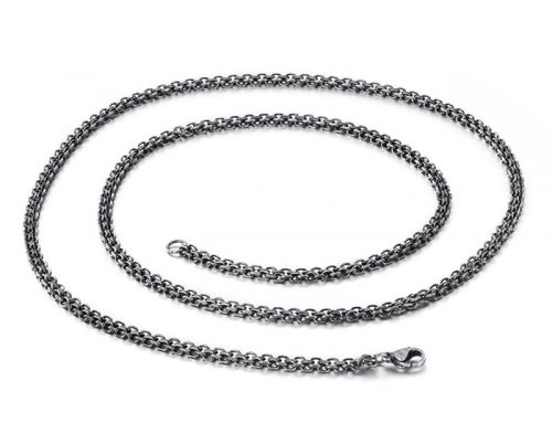 2019 european stylish mens stainless steel double strand rolo chain necklace jewelry