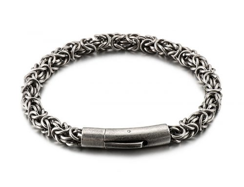 European style byzantine culture link mens metal bracelet jewelry