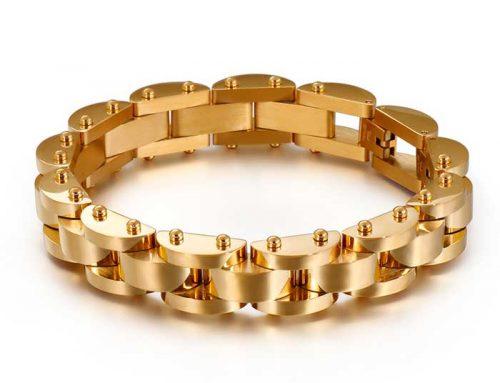 Classic design mens stainless steel watch bracelet jewelry