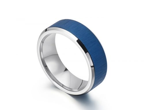 Classic mens frosted surface stainless steel ring jewelry