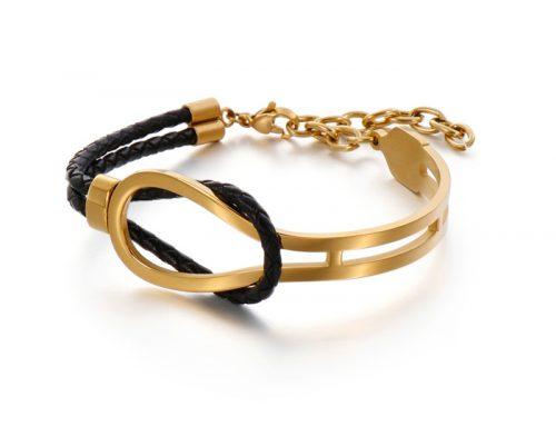 Mens unsymmetric design double strands braided leather bracelet jewelry