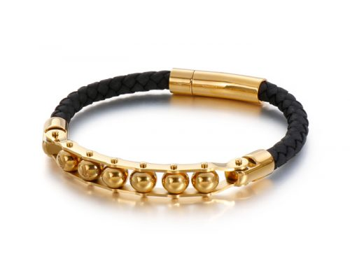 best valentine's gift urban culture mens ball row braided leather bracelet jewelry