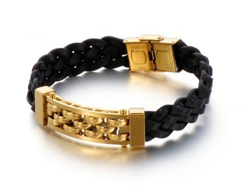 street wear mens urban fashion braided leather bracelet jewellery