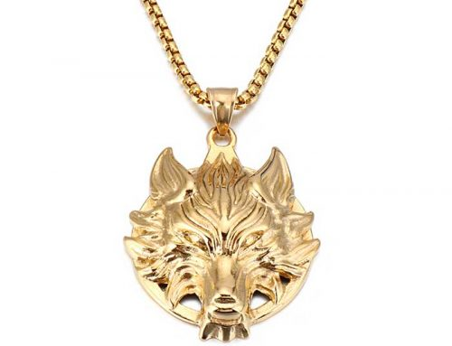 street wear totem wolf head hipster accessories mens stainless steel pendant vintage fashion jewelry