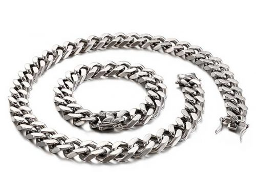 14mm wide hipster best gift mens stainless steel cuban link curb chain hip hop street wear jewellery