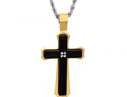 2020 classic design european stylish mens stainless steel religious cross prayer pendant jewelry factory