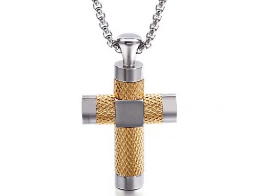 2020 luxury quality mens stainless steel cross texture pendant prayer stylish jewelry
