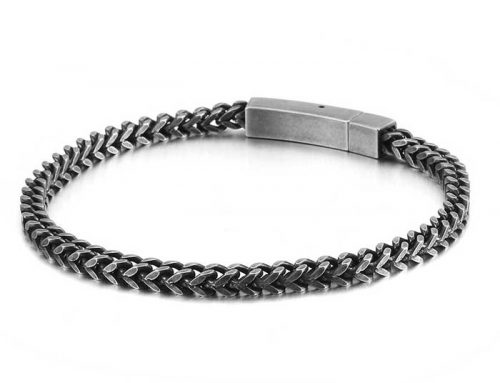 2020 luxury stylish mens metal franco chain bracelet jewelry factory