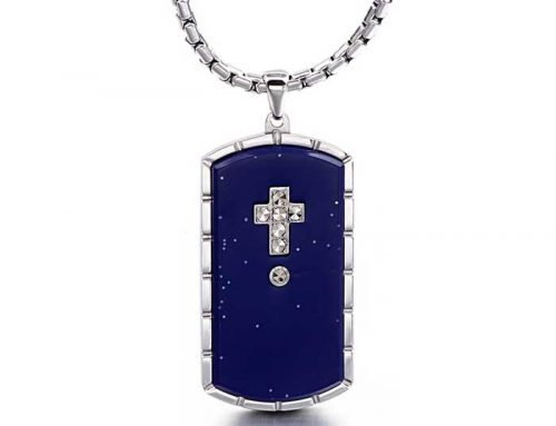 2020 most popular military amulet mens stainless steel shield cross tag prayer pendant jewelry manufacturer