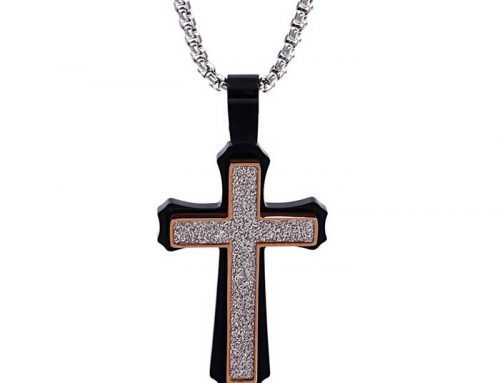 2020 new fashion antique design bling bling mens stainless steel cross prayer pendant hip hop jewelry manufacturer