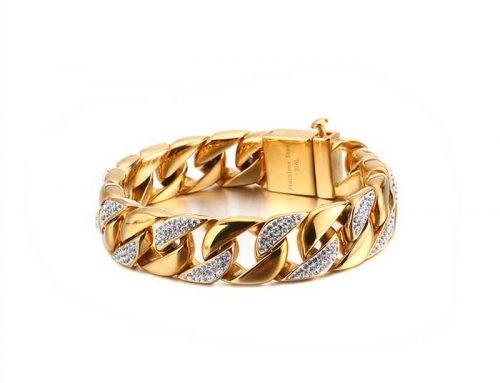 2020 stylish cuban link curb bracelet small diamond pavement bling bling street wear hip hop jewellery factory