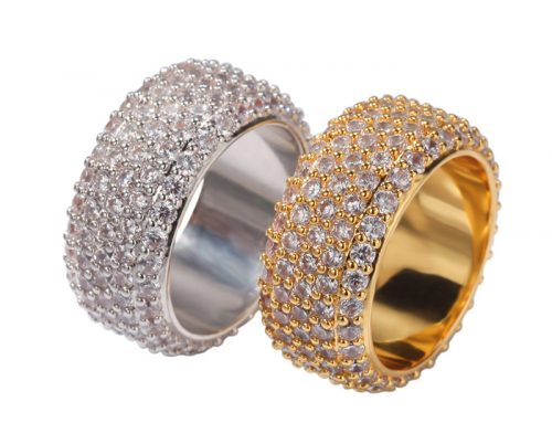 2020 full pavement diamond lovers couple dazzling ring hip hop jewelry source factory
