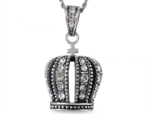 Iced out stainless steel pope hat pendant with cz pave adorn hip hop jewelry wholesaler
