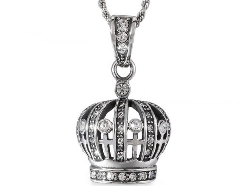 mens stainless steel hip hop cz pave throne crown pendant source jewelry factory