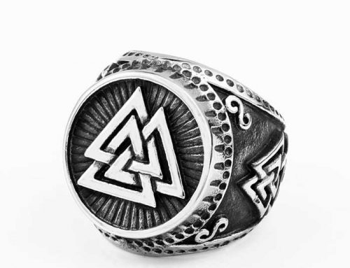 Valknut Viking Warrior Amulet Ring
