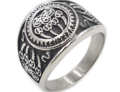 Viking The Great Bear Claw Signet Ring