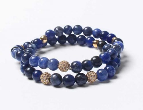 Customizable Two Row Gemstone Beads Bracelet