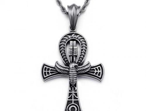 Egyptian Eagle God Ankh Key Cross Pendant