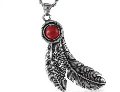 Two Feather Pendant