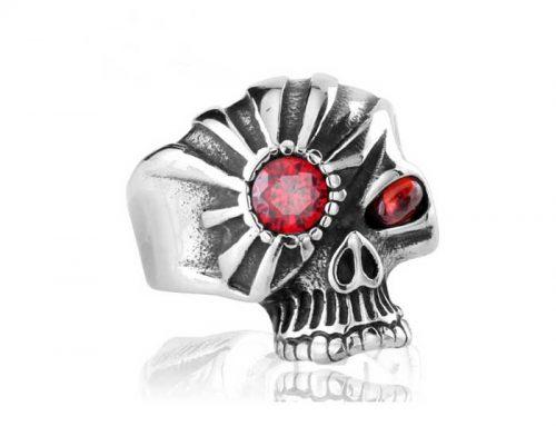 Shining Eye Skull Biker Ring