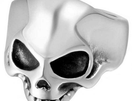 Super Cool Dwarf Alien Skull Biker Ring